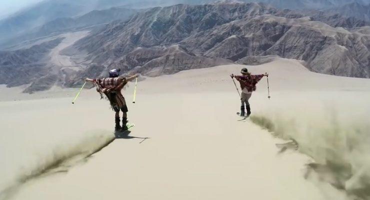 Freeride tra le dune di sabbia, l'emozionante video di Go Pro